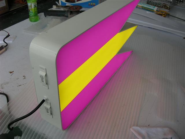 Double-sided LED flag sign