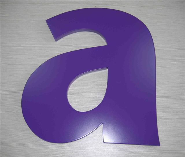 Painting PVC letters