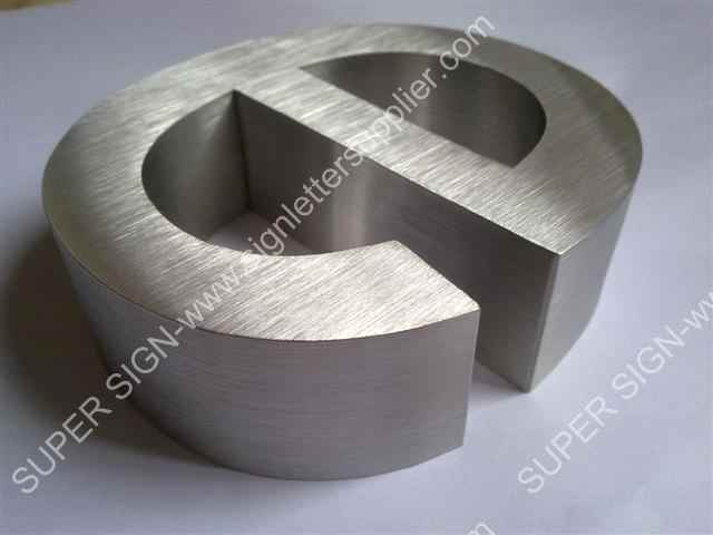 304 grade brushed stainless steel lettering