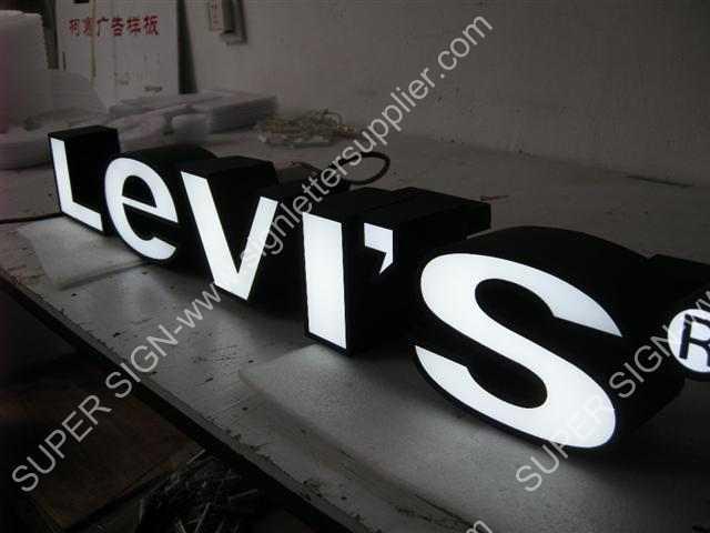 frontlit LED sign letter