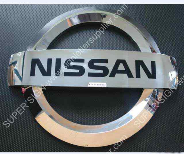 3D stainless steel logo