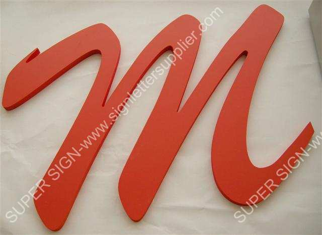 CNC route cutting acrylic letters