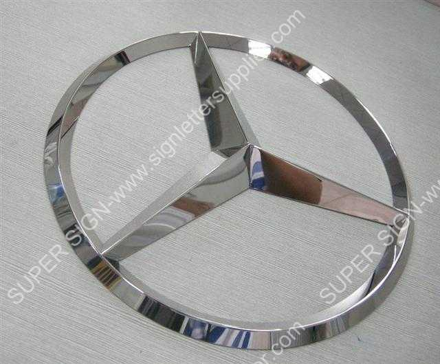 3D polished stainless steel logo with complicated curved surface