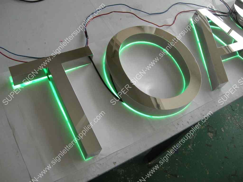 Backlit LED letters