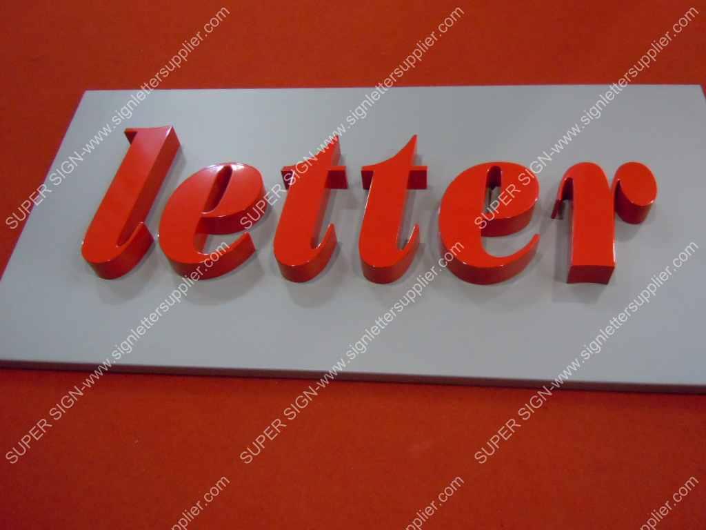 fabricated aluminum box letters